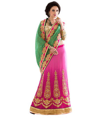 Green Color Georgette Embroidery Saree