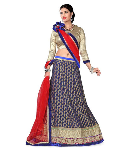 Blue Color Viscose Lehenga - NMN2A118Nblue