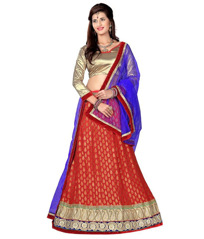Red Color Viscose Lehengas - NMN2A118Red