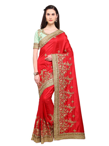 Red Color Banarasi Silk Saree - NMSSPA592