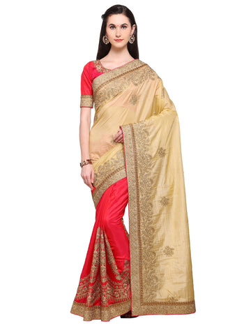 Beige Color Banarasi Silk Saree - NMSSPA595