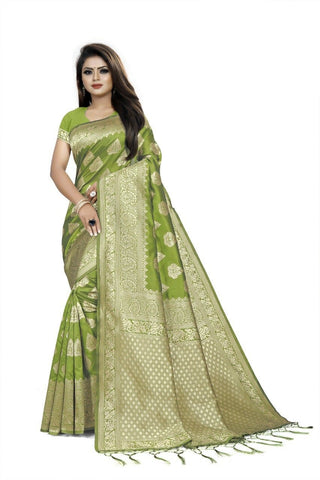 Mehendi Green Color Art Cotton Silk Women's Saree - NTC_PALANI_03
