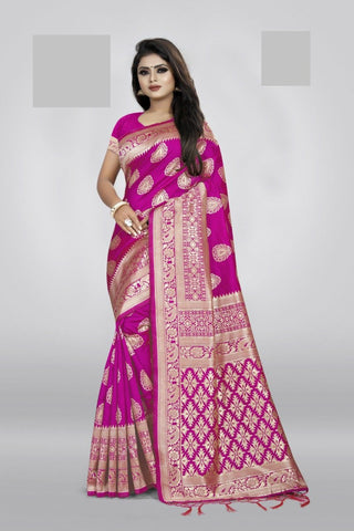 Pink Color Art Cotton Silk Women's Saree - NTC_PALANI_04