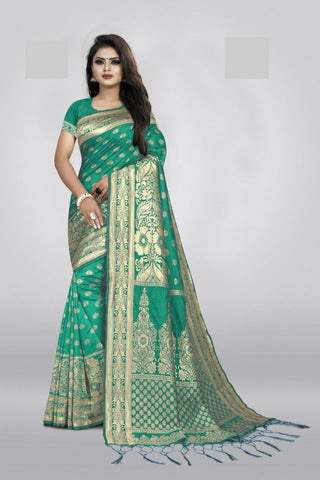 Pista Green Color Art Cotton Silk Women's Saree - NTC_PALANI_05