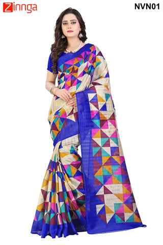 Multi Color Bhagalpuri Sarees - NVN02