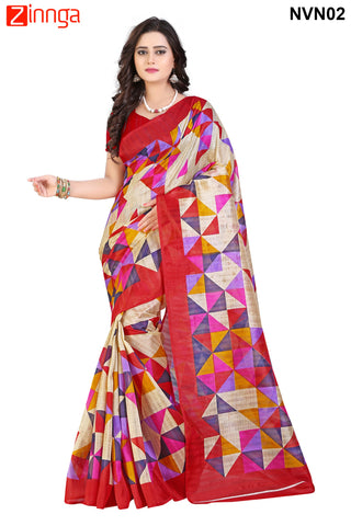 Multi Color Bhagalpuri Sarees - RITI-102