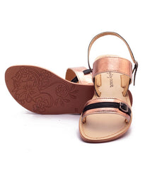 Bronze Color Genuine Leather Sole Sandals - NW-701-BB