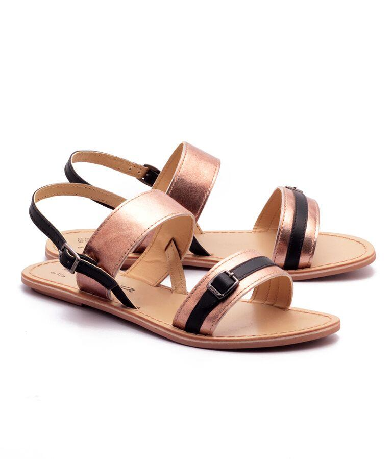 Bronze Color Genuine Leather Sole Sandals