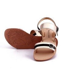 Gold Color Genuine Leather Sole Sandals - NW-701-GB