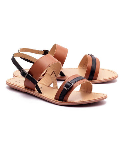 Tan Color Genuine Leather Sole Sandals - NW-701-TB