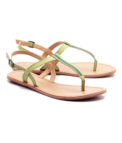 Lime Green Color Genuine Leather Sole Sandals - NW-705-LG