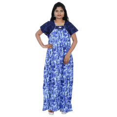 Buy Blue Color  Cotton Free Size Nighty