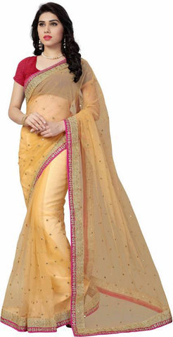 Light Orange Color Royal Cotton Saree - NX120