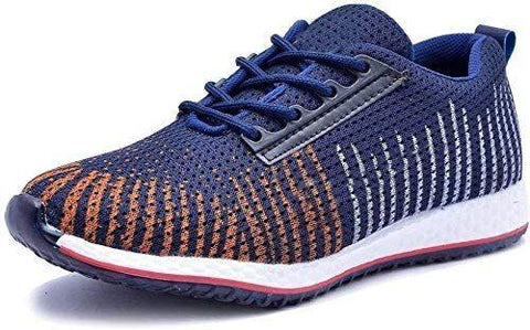 Navy Color Mesh Men Shoe - NavyMulti