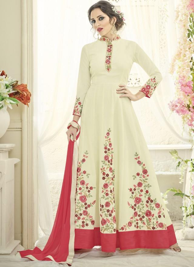 Lvory Color Japan Satin Semi Stitched Lehenga  - Navya4-133
