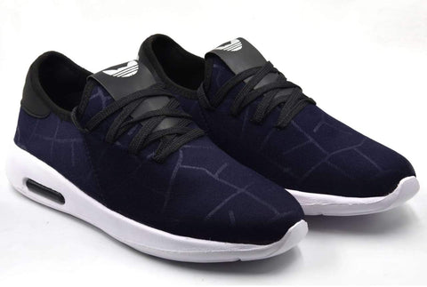 Navy Color Lycra Men Shoe - Navymakdi