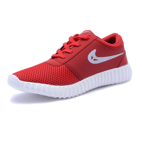 Red Color Mesh Men Sports Shoe - Neke-Red