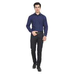 Navy Grey Color Cotton Blend Slim Fit Shirts - NevyGrey-shirtsNew