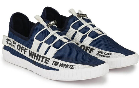 Blue Color Mesh Running Shoe - OFFBlue