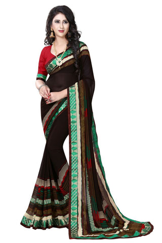 Brown Color Georgette Saree - ON-109