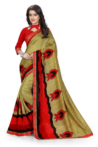 Beige Color Silk Saree - ON-113