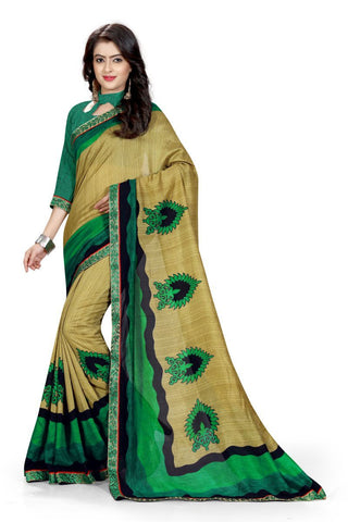 Beige Color Silk Saree - ON-114