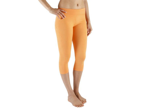 Orange Color Supplex Lycra Capri - ORANGE4-CP