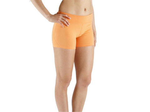 Orange Color Supplex Lycra Women Short  - ORANGE1-SH