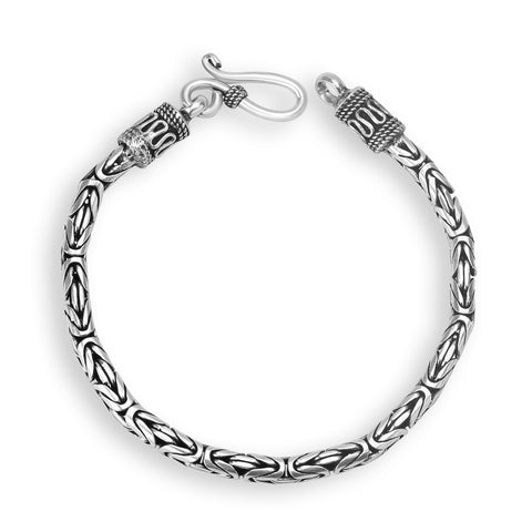 Silver Color Silver Men's Bracelet  - OSA0004