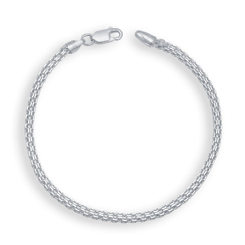 Silver Color Silver Men's Bracelet  - OSA0005