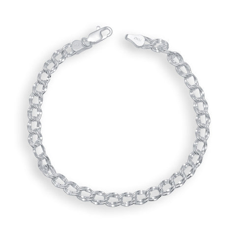 Silver Color Silver Men's Bracelet  - OSA0009