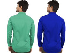Combo Shirts Parrot Green and Royal Blue - 1ABF-PG-RB
