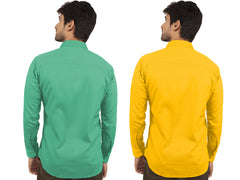 Combo Shirts Parrot Green and Yellow - 1ABF-PG-YW