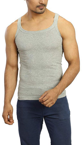 Grey Color Premium Cotton Men's Vest - PAYAL-MV1P-10