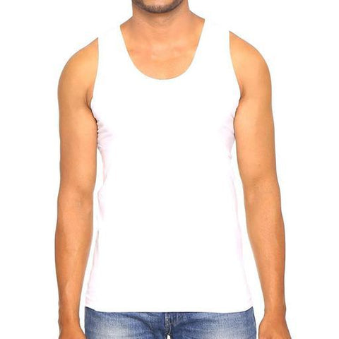 White Color Premium Cotton Men's Vest - PAYAL-MV1P-3