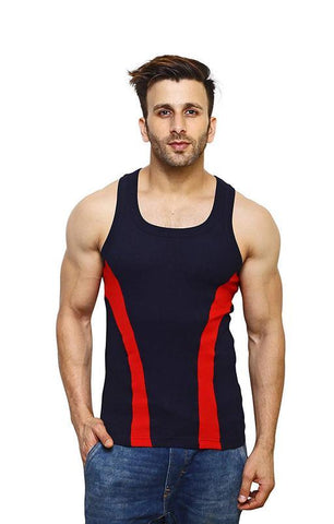 Black Color Premium Cotton Men's Vest - PAYAL-MV1P-6