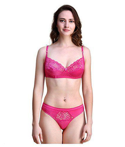 Pink color Cotton Women's Lingerie Set - PAYAL-PNBPS-6