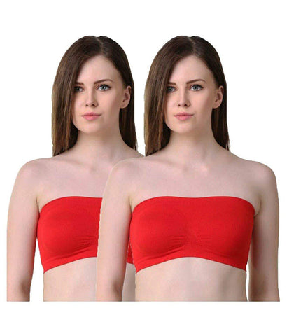 Multi color Cotton Women's 2 Piece Air(Tube) Bra - PAYAL-TB2P-10