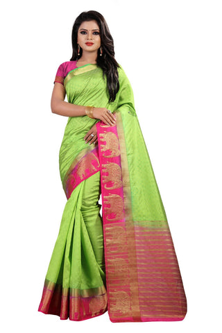 Green Color Kanjivaram Silk Saree - PF250