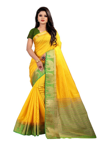 Yellow Color Kanjivaram Silk Saree - PF251