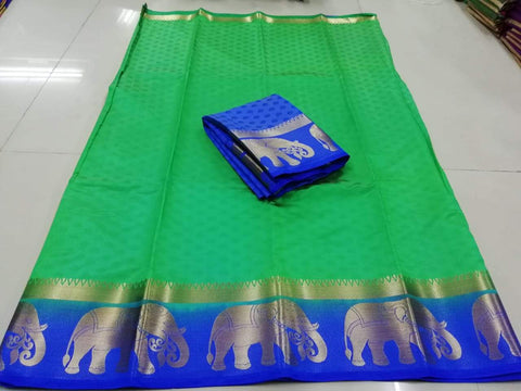 Green Color Kanjivaram Silk Saree - PF255