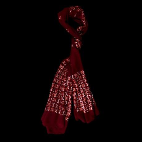 Red Color Chiffon Scarf - PH020