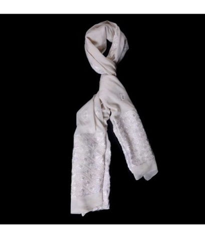 White Color Chiffon Scarf - PH023