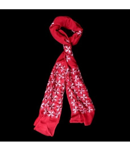 Red Color Chiffon Scarf