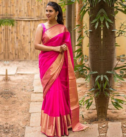 Pink Color ArtSilk Saree - PINK001