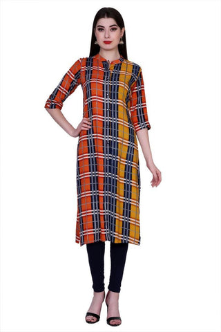 Multi Color Cotton Women's Stitched Kurti - PK-1014-Multi
