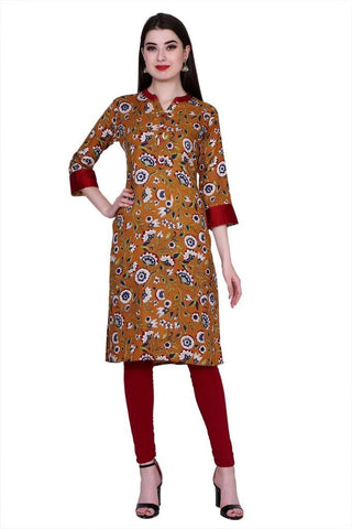 Multi Color Cotton Women's Stitched Kurti - PK-1019-Multi