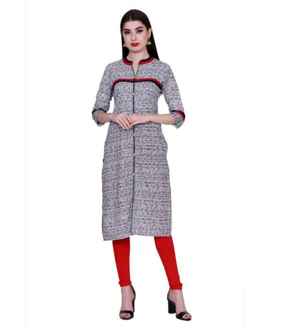 Grey Color Cotton Women's Stitched Kurti - PK1028GRAY