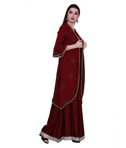 Brown Color Cotton Women's Stitched Kurti - PK1044BROWN