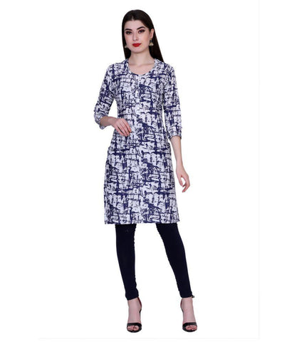 Purple Color Cotton Women's Stitched Kurti - PK7004PURPLE